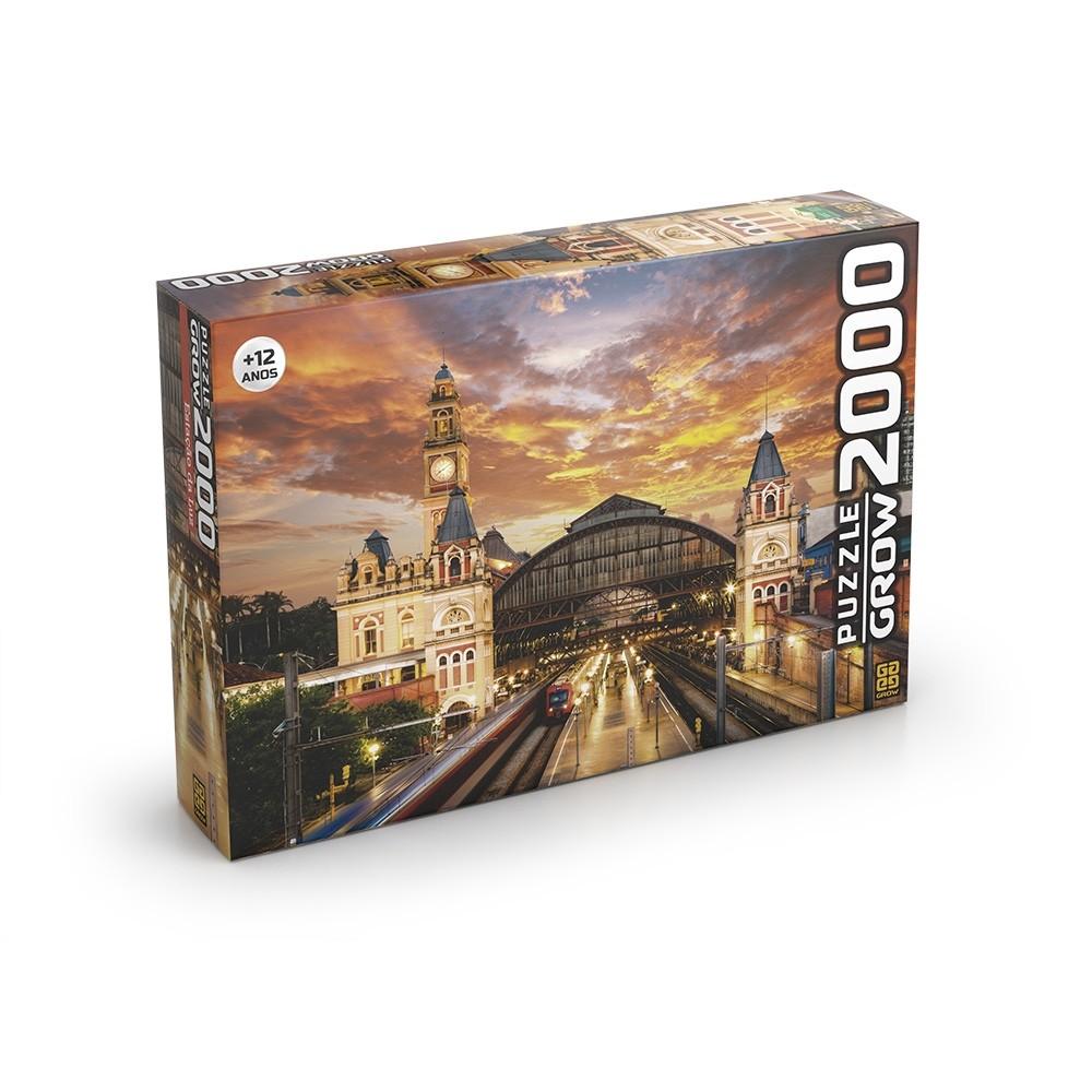 Puzzle 2000 peças - Estação da Luz - Grow