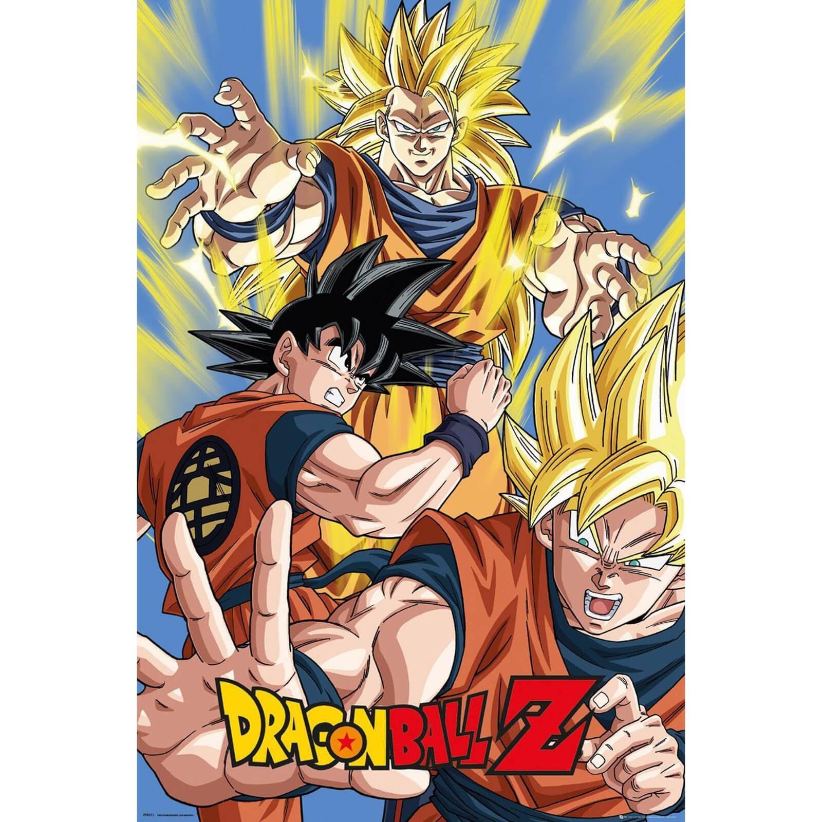 Poster Dragon Ball Z Goku 91x61cm Sem Moldura - Wall Street Posters