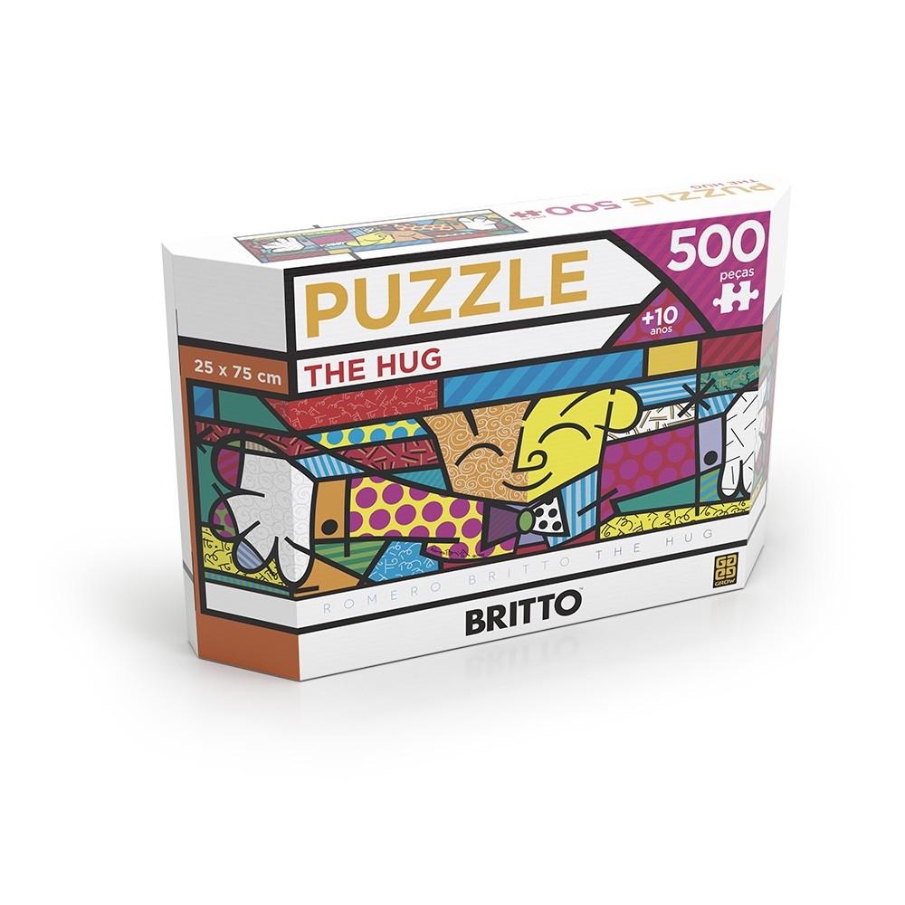 Puzzle 500 peças Panorama Romero Britto The Hug - Grow