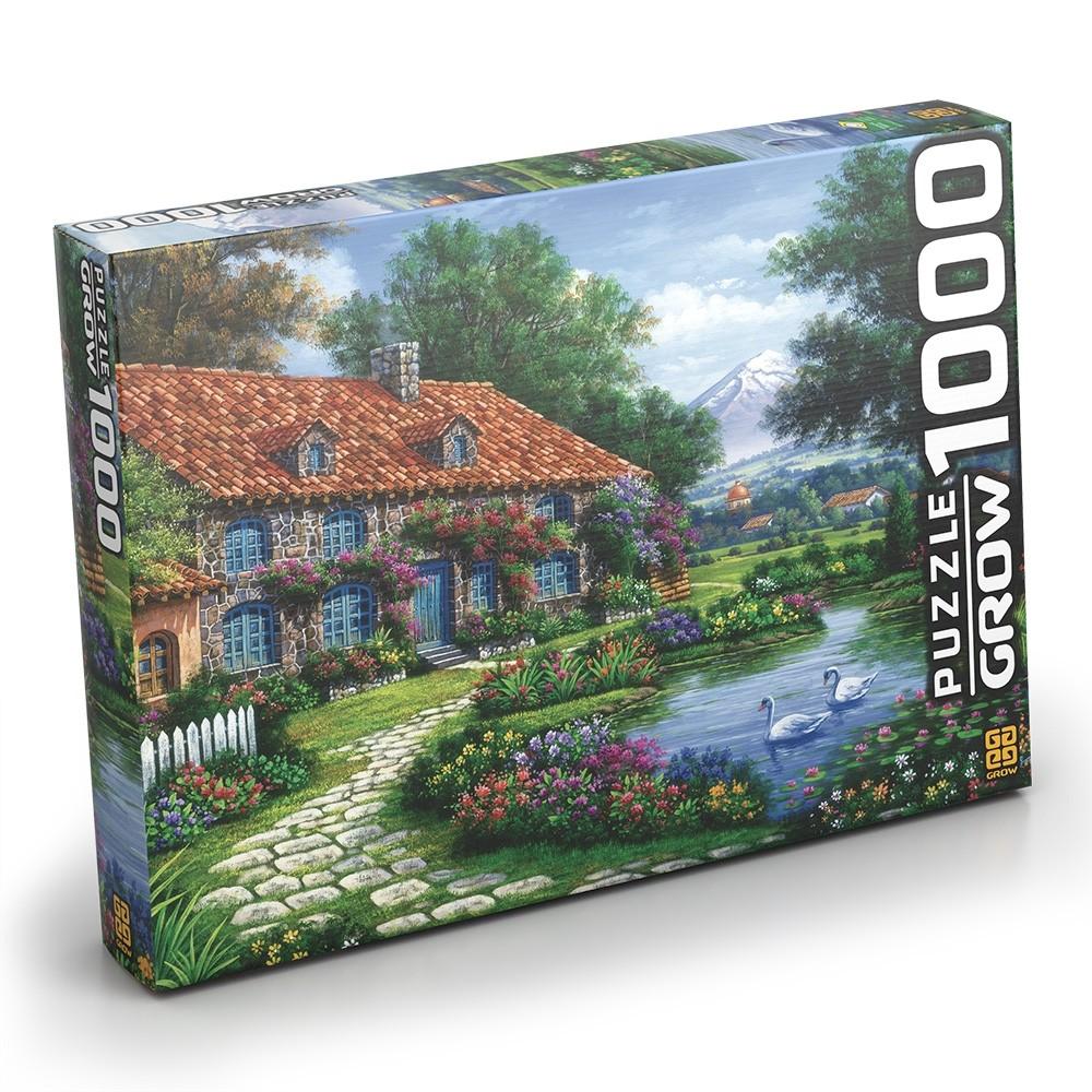 Puzzle 1000 peças Recanto dos Cisnes - Grow
