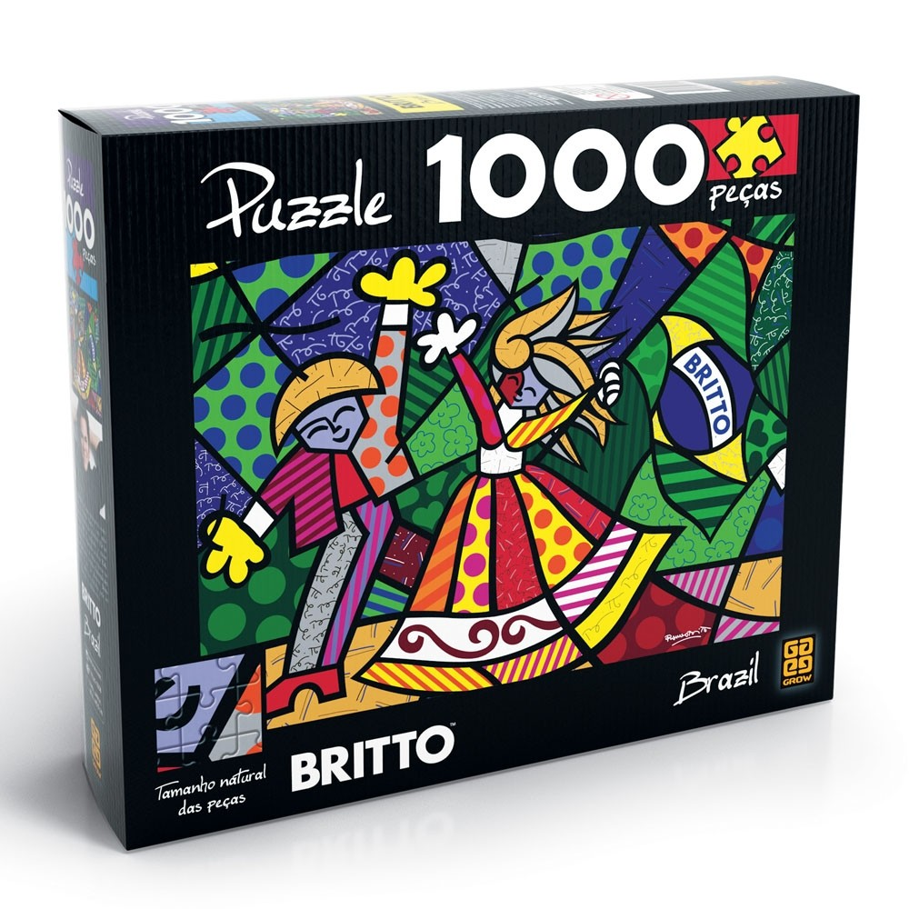 Puzzle 1000 peças Romero Britto - Brazil - Grow