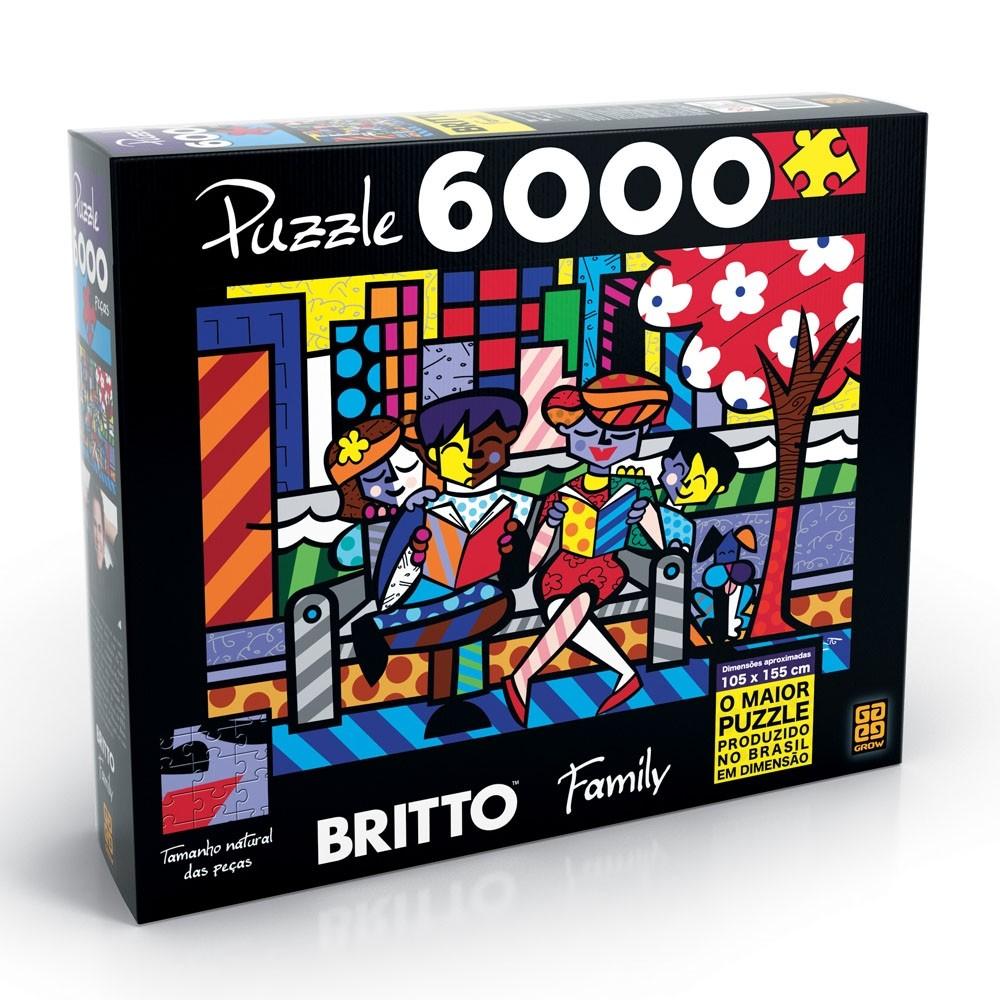 Puzzle 6000 peças - Romero Britto Family - Grow