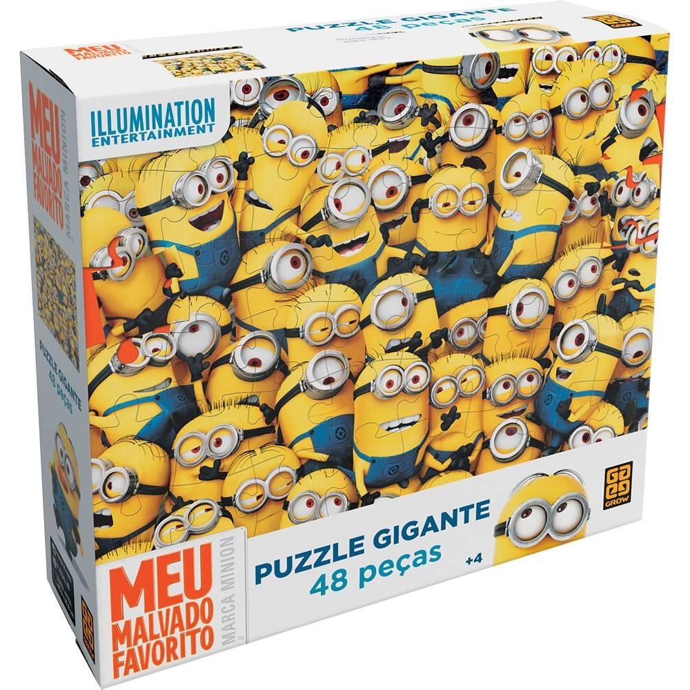 Puzzle 48 peças Gigantes Minions - Grow