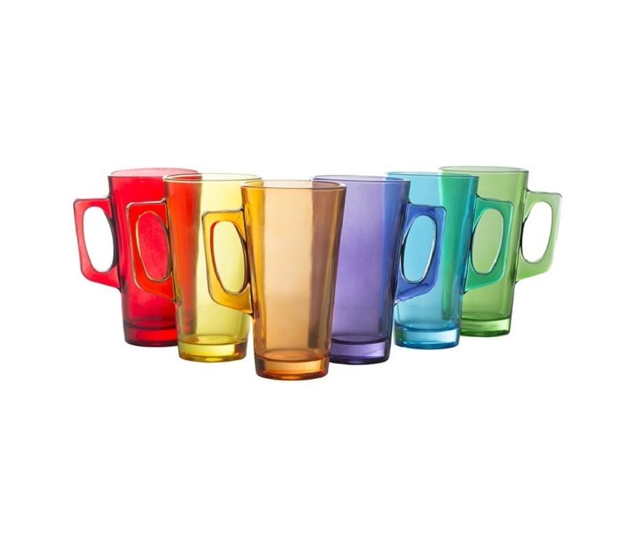 Conjunto de Caneca Cappuccino 370ml Colorido - 6 Pç - Casa Linda
