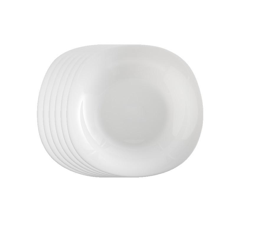 Jogo de Prato Opal Quadra Fundo 22 cm - Casa Linda