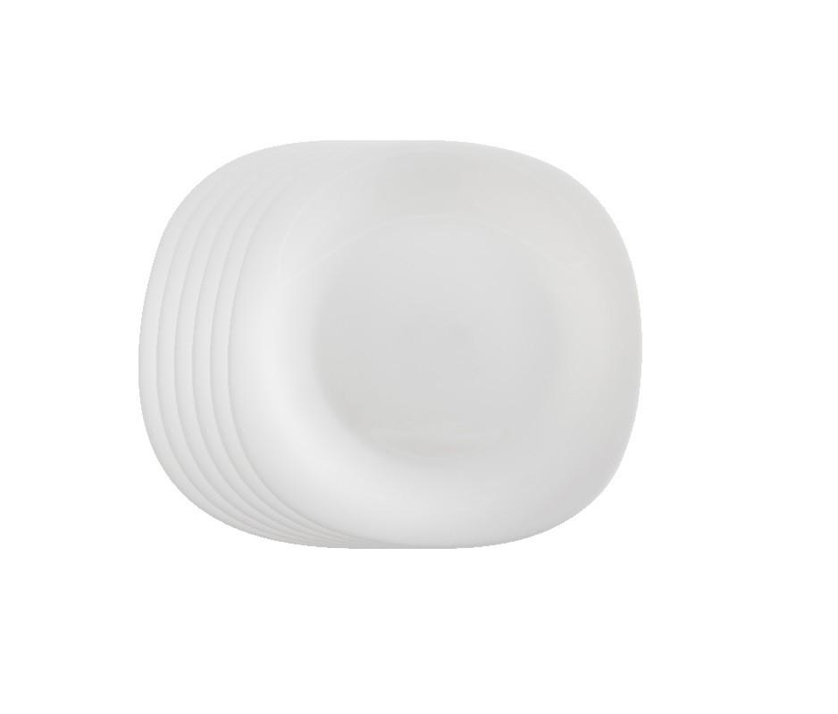 Jogo de Prato Opal Quadra Raso Sobremesa 20 cm - Casa Linda