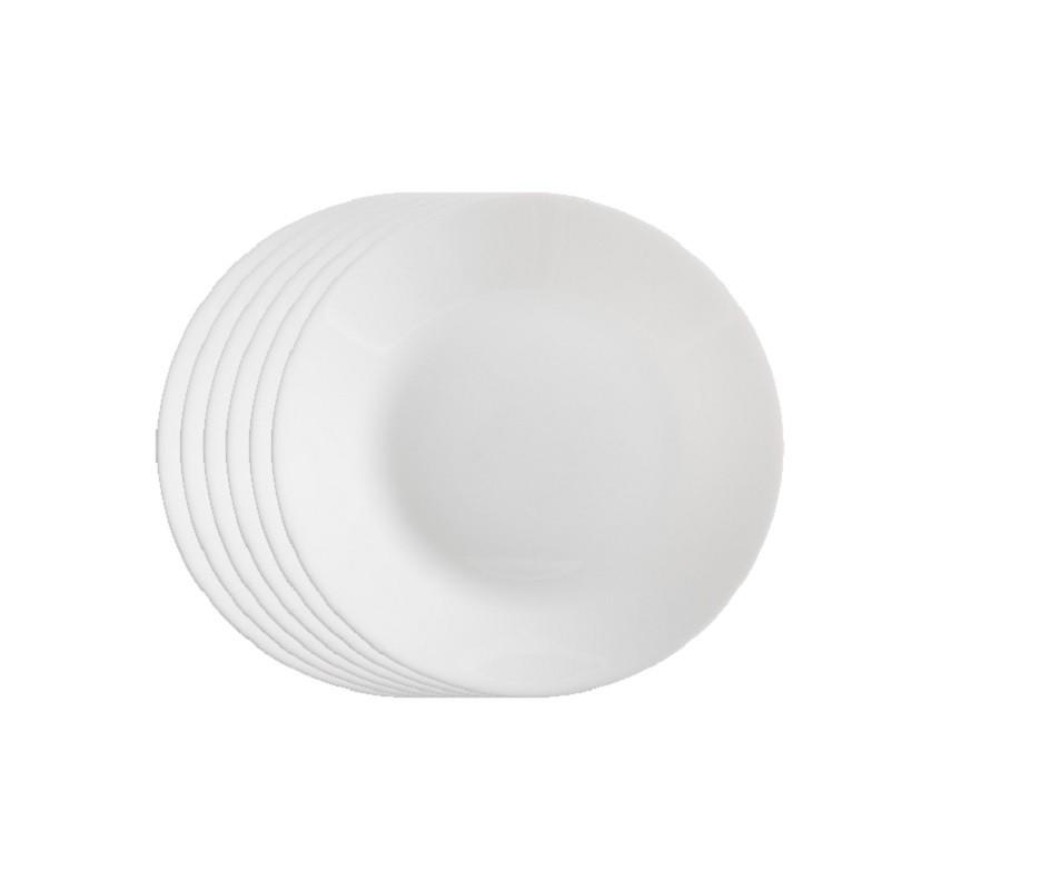Jogo de Prato Opal Unique Raso Sobremesa 19 cm - Casa Linda
