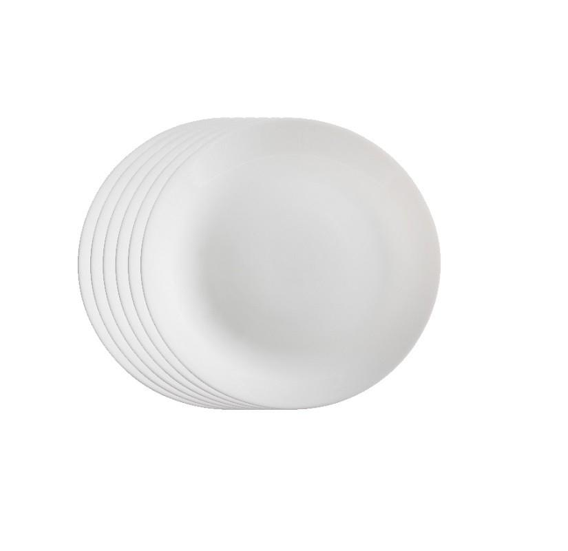 Jogo de Prato Opal Unique Raso 25 cm - Casa Linda
