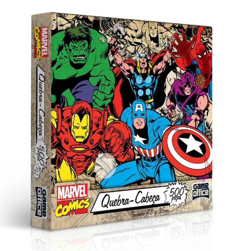 Quebra- Cabeça 500 Peças- Comics Marvel Edição Especial - Toyster