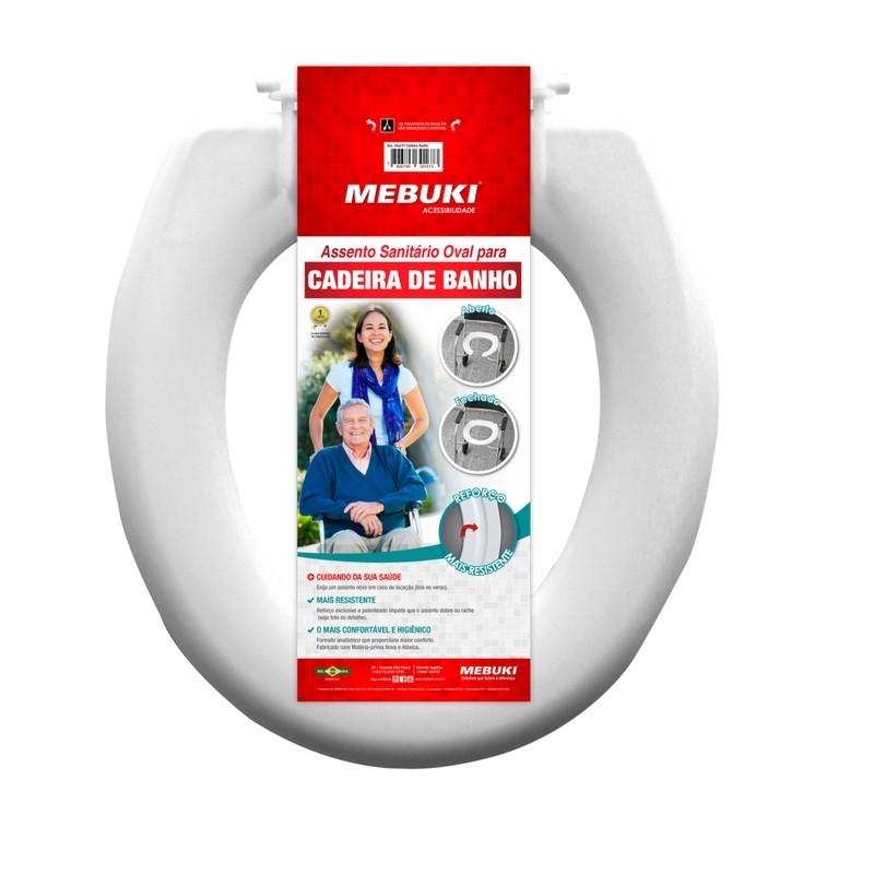 Assento Sanitário  Para Cadeira de Banho  Fechado -  Mebuki