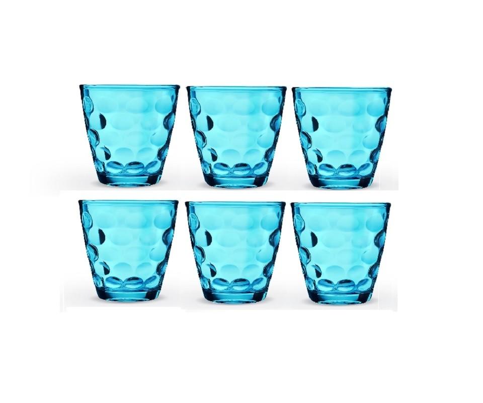 Conjunto de Copos Pop Azul 300ml - Casa Linda