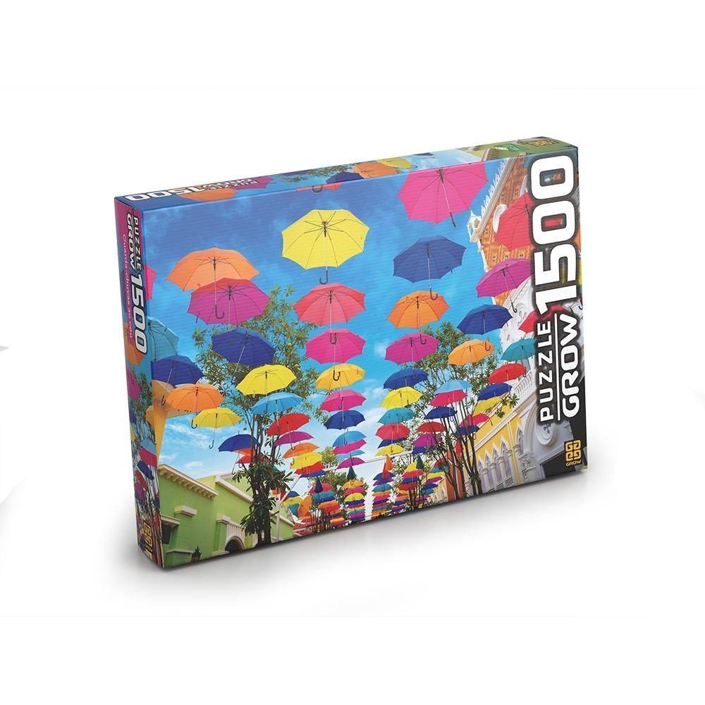 Puzzle 1500 peças Guarda-Chuvas ao Céu - Grow