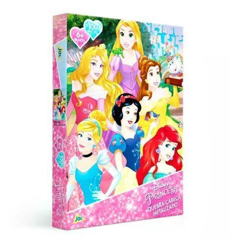 Quebra-Cabeça 100 peças  Metalizado - Princesa Disney - Toyster