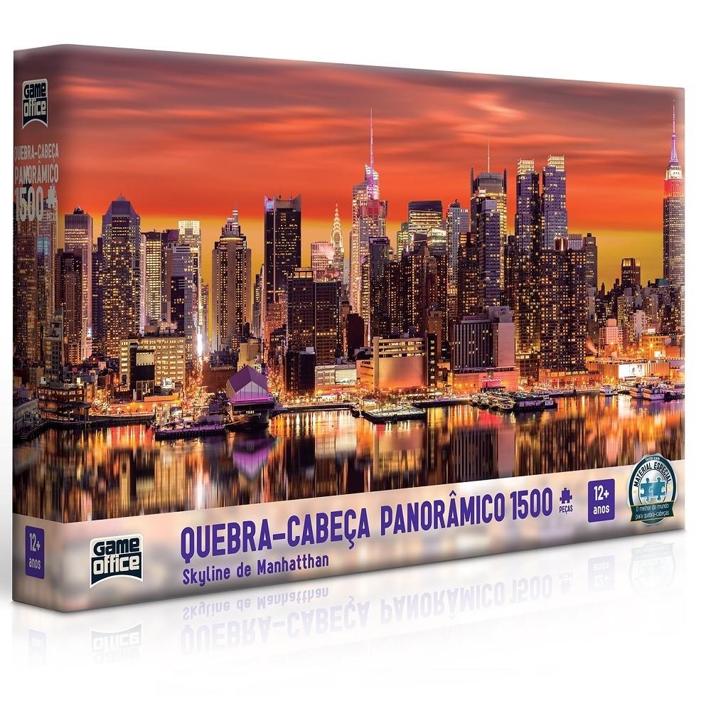 Quebra - Cabeça Panorâmico 1500 peças - Skyline de Manhatthan - Toyster