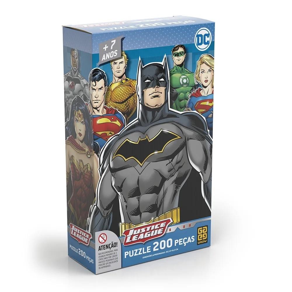 Puzzle 200 peças Liga da Justiça - Grow