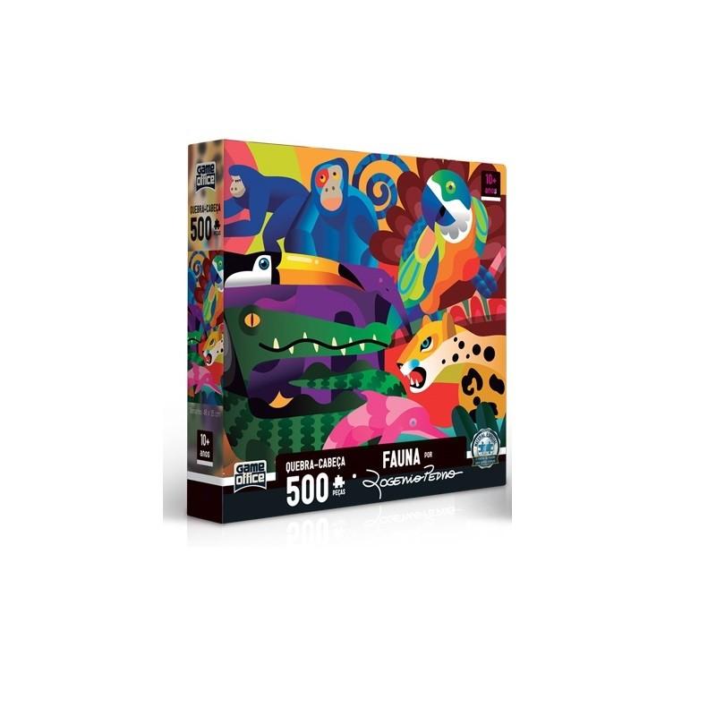 Quebra- Cabeça 500 peças - Fauna - Toyster
