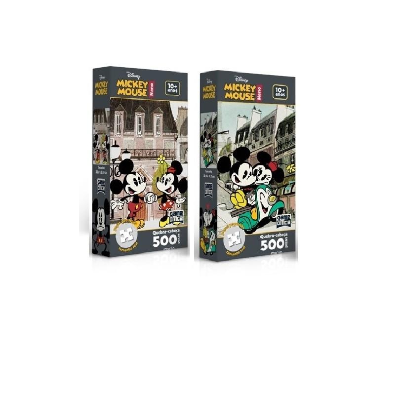 Kit 2 Quebra- Cabeça Nano 500 Peças -  Mickey Mouse  - Toyster
