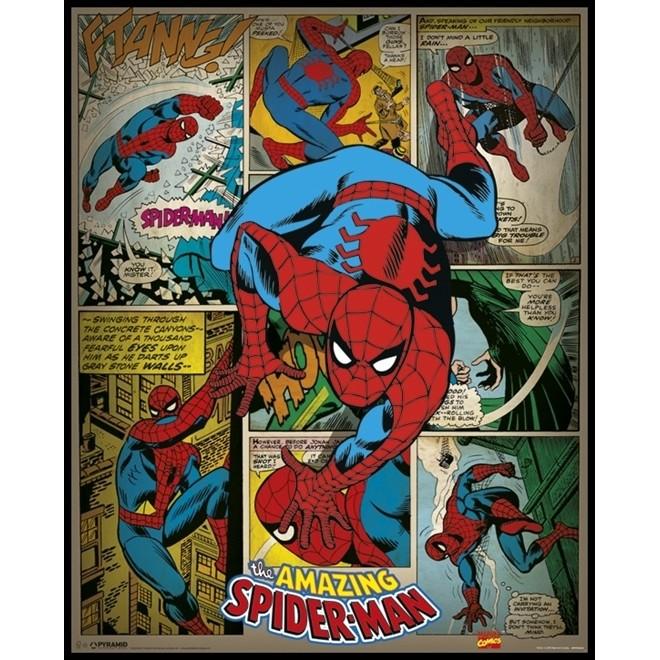 Poster Homem-Aranha Quadrinho 55x44cm com Moldura - Wall Street Posters