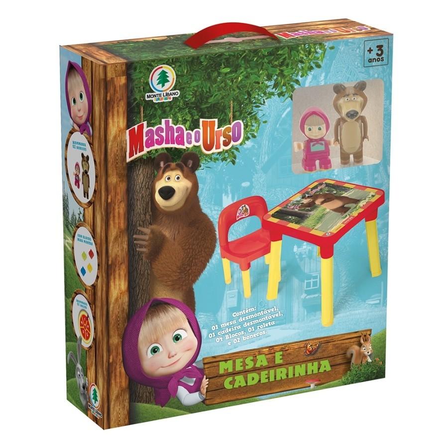 Mesinha com Cadeira Infantil - Masha e o Urso - Monte Líbano
