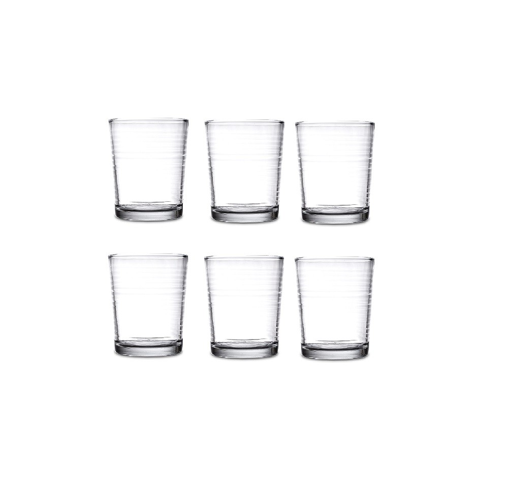 Conjunto de Copos Távola 400 ml -  Transparente - 6 pç - Casa Linda