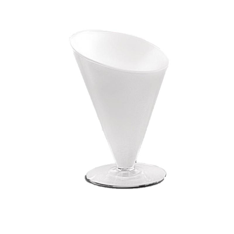 Taça Centro de Mesa Diagonal 23X18 cm  Branco - Luvidarte