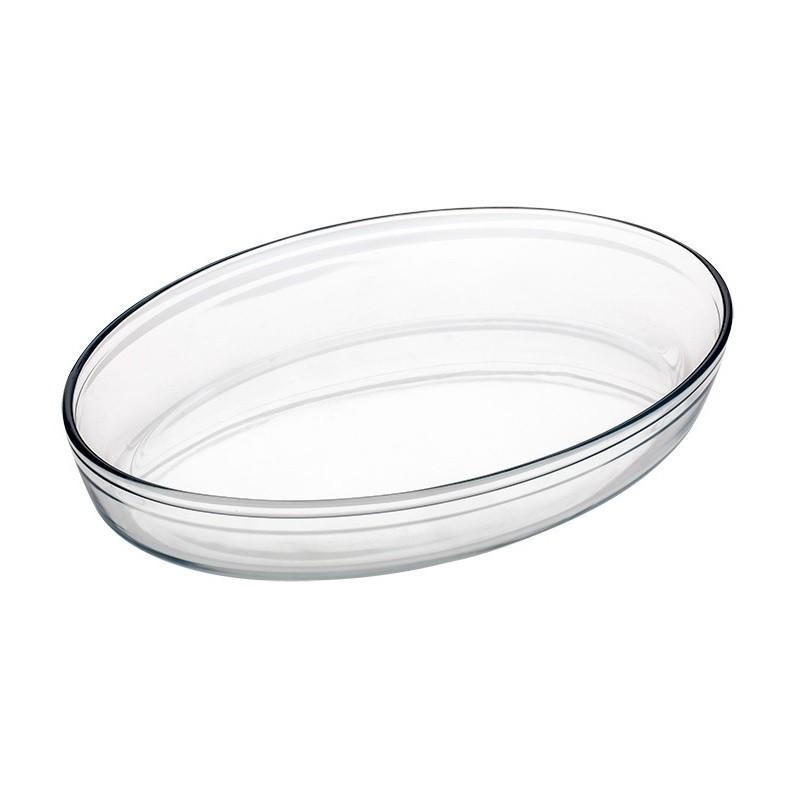 Assadeira de vidro Forma Oval 39x27cm 4L Casa Linda