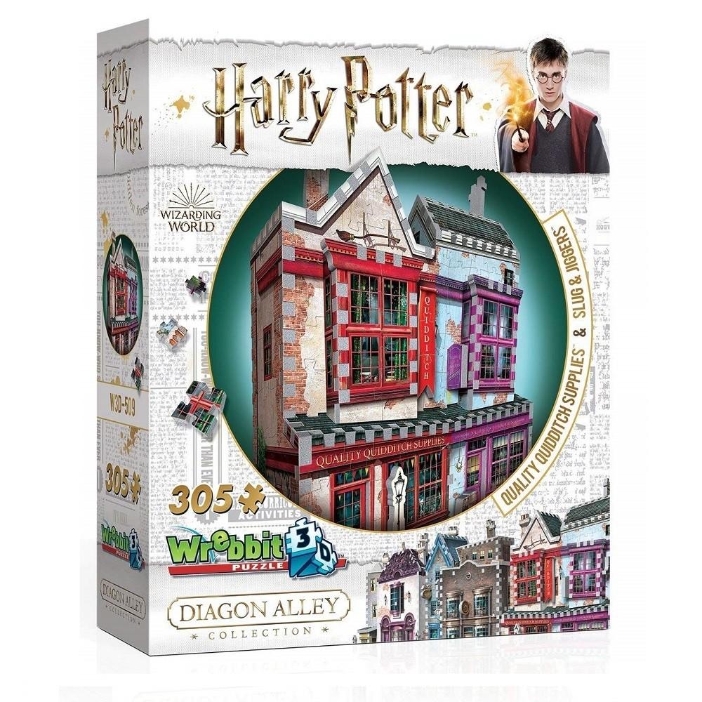 Harry Potter Puzzle 3D 305 Pçs - Quadribol e Apotecário- Galápagos
