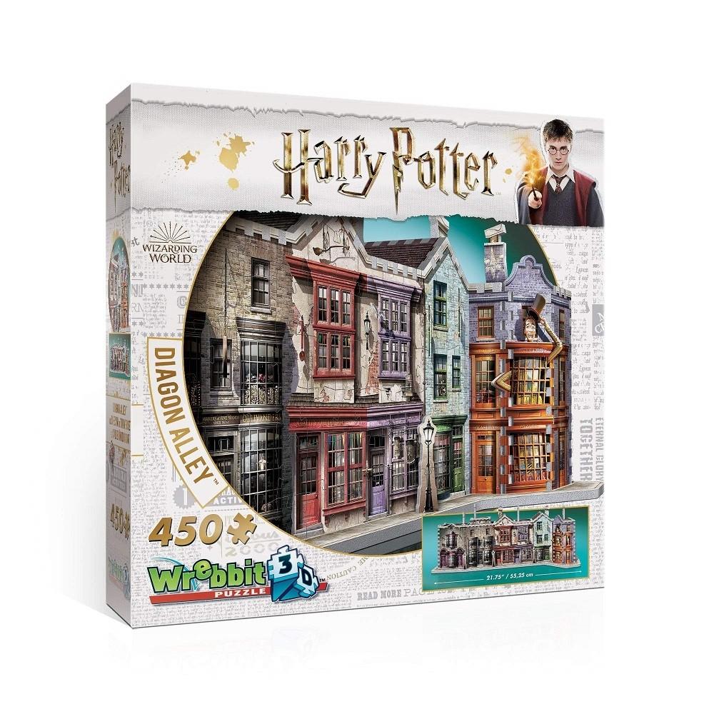 Harry Potter Puzzle 3D 450 Pçs - Beco Diagonal - Galápagos