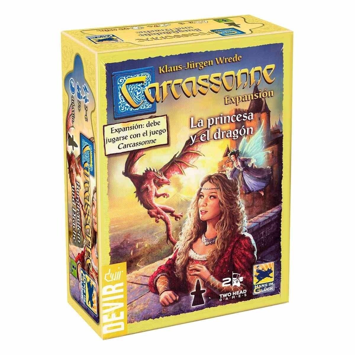 Carcassonne A Princesa e o Dragão Expansão 2ª edição - Jogo de Tabuleiro - Devir