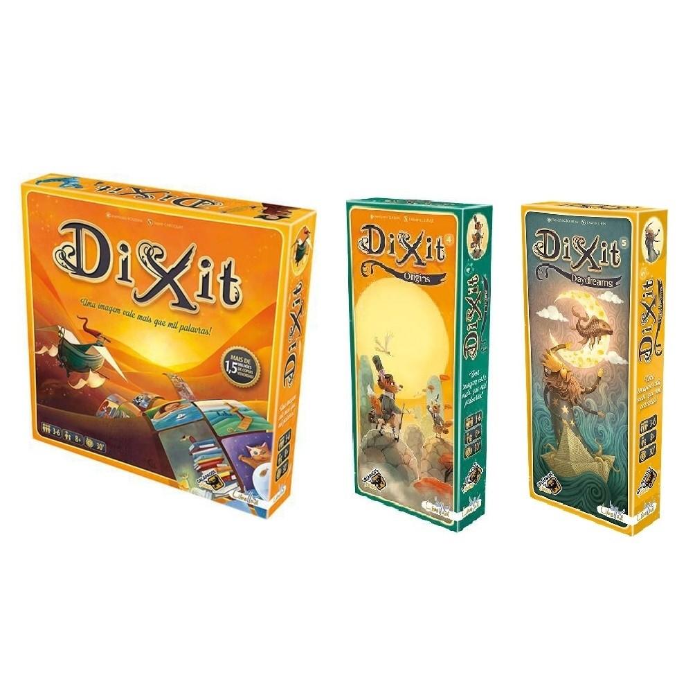 Combo Dixit + Expansão Origins e Daydreams  - Galapagos