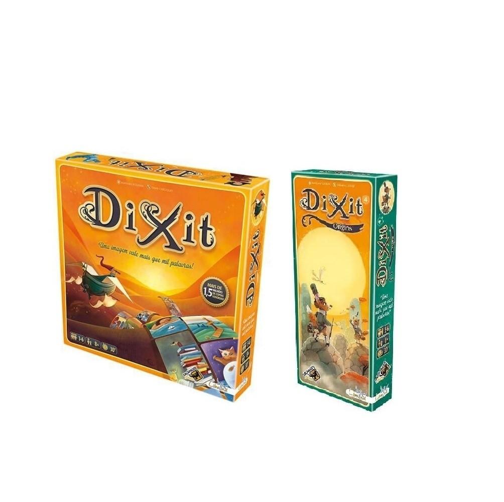 Combo Dixit +  Expansão  Origins - Galapagos