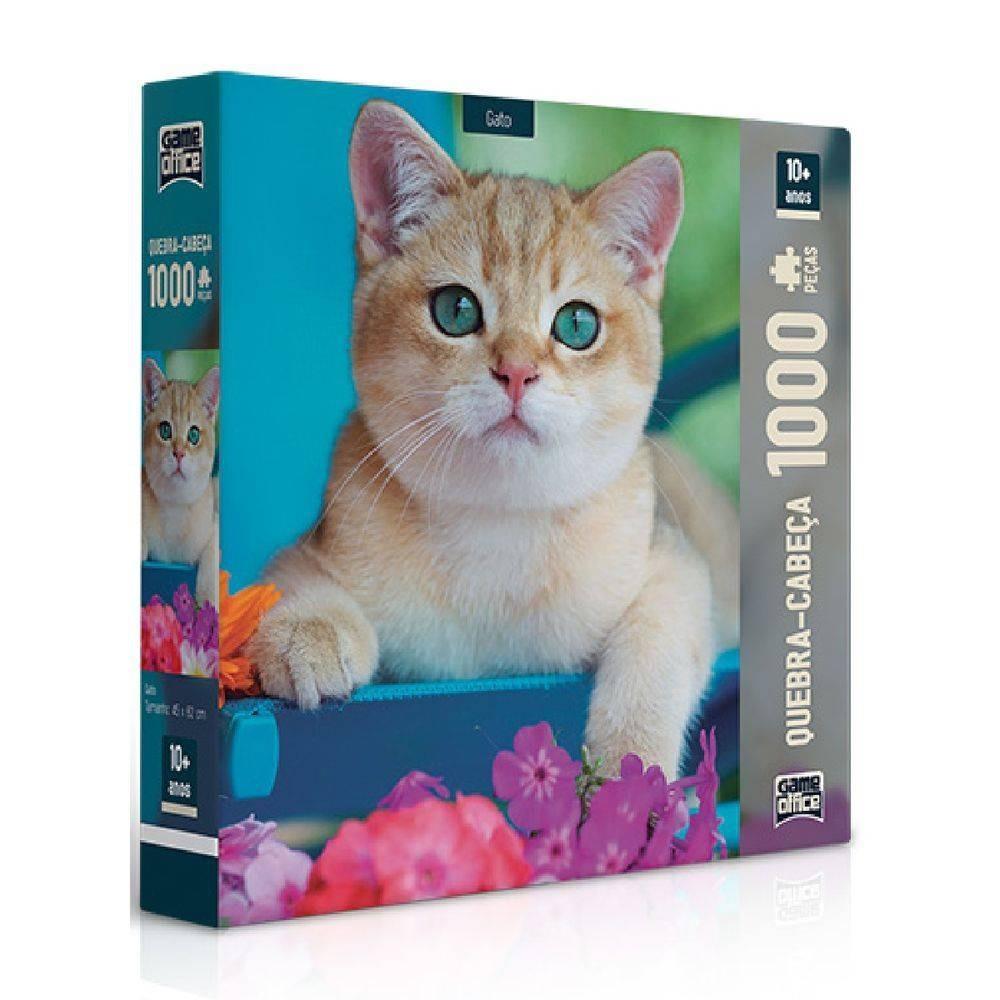 Quebra - Cabeça 1000 peças - Gato - Toyster