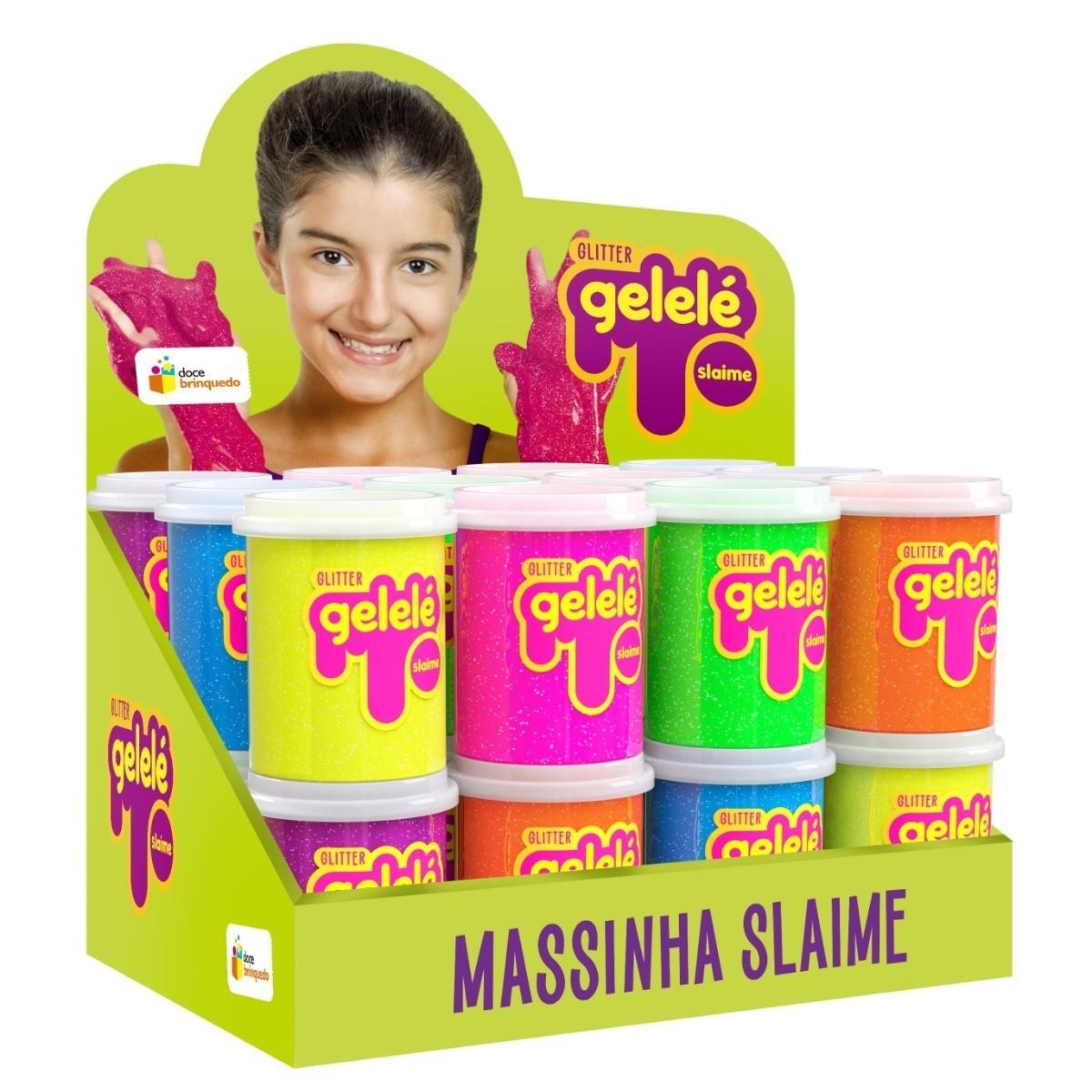 Kit Massinha Gelelé Slime c/ 24 Potes 152 g - Sortidos - Doce Brinquedos