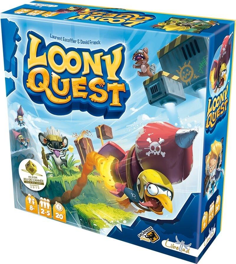 LOONY QUEST, jogo de tabuleiro Galápagos