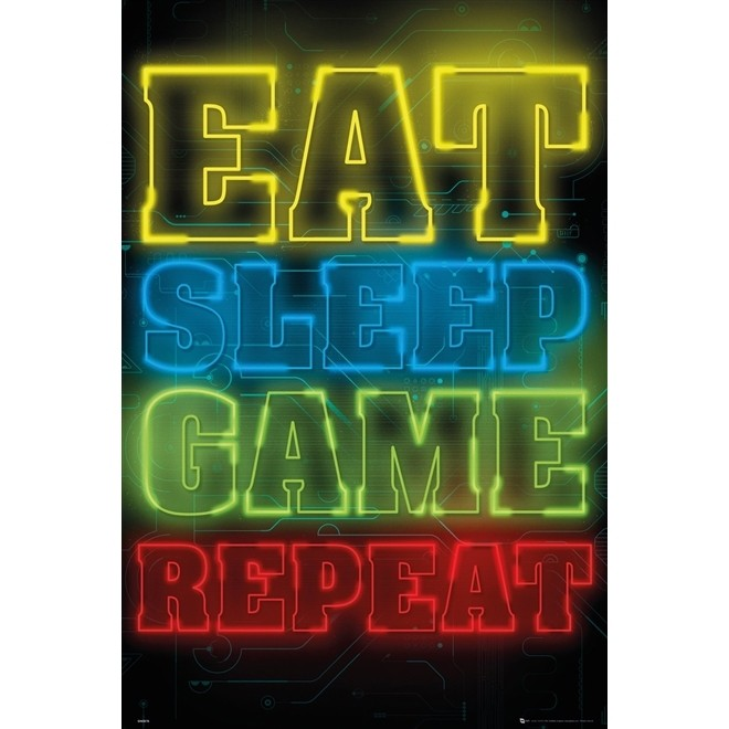 Poster Game Eat 91x61cm Sem Moldura - Wall Street Posters