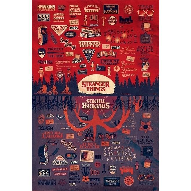 Poster Stranger Things 91x61cm Sem Moldura - Wall Street Posters