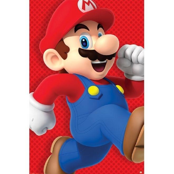 Poster Super Mario Run 91x61cm Sem Moldura - Wall Street Posters