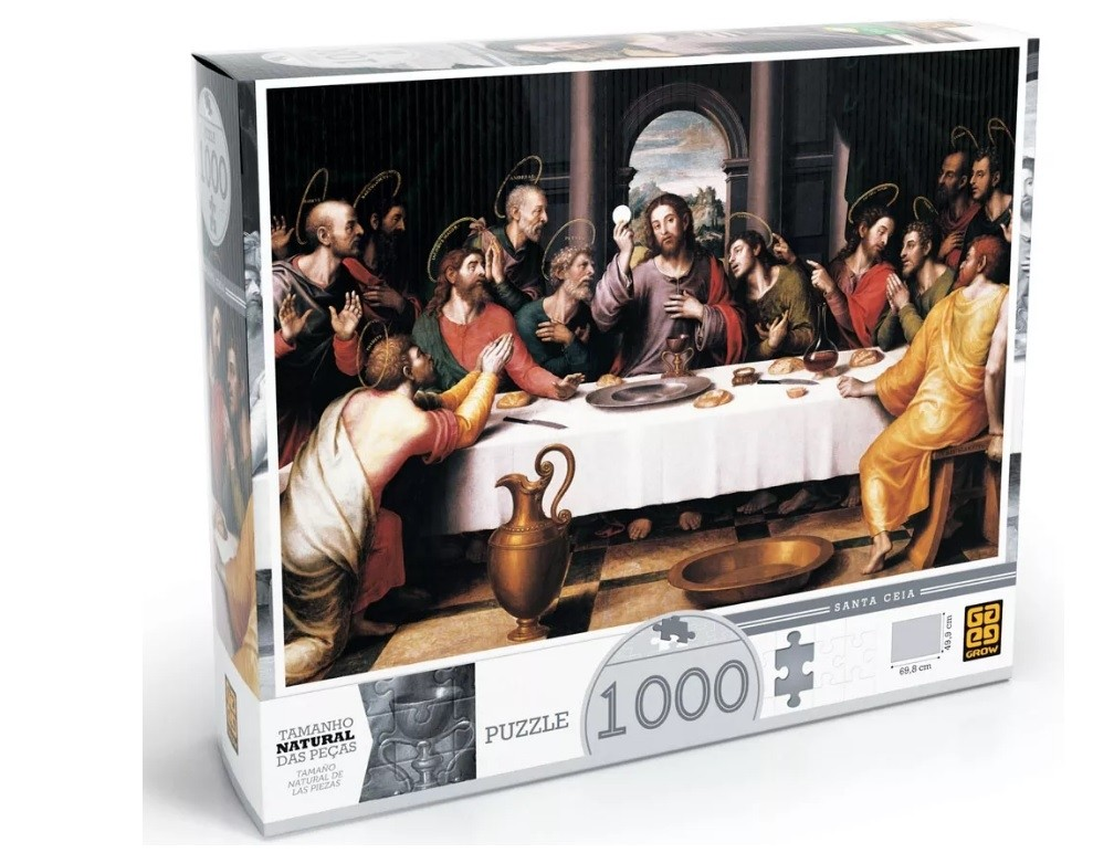 Puzzle 1000 peças Santa Ceia - Grow
