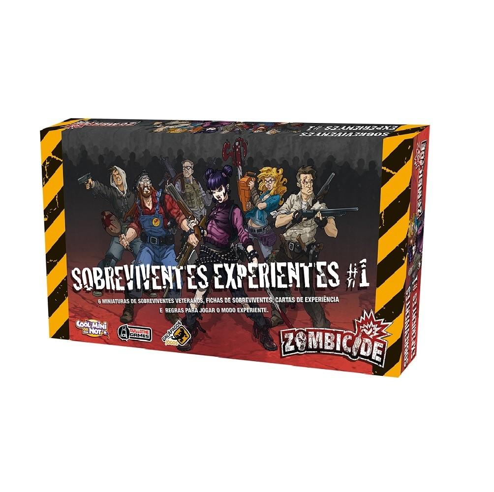 Sobreviventes Experientes - Expansão Zombicide, jogo de tabuleiro Galápagos