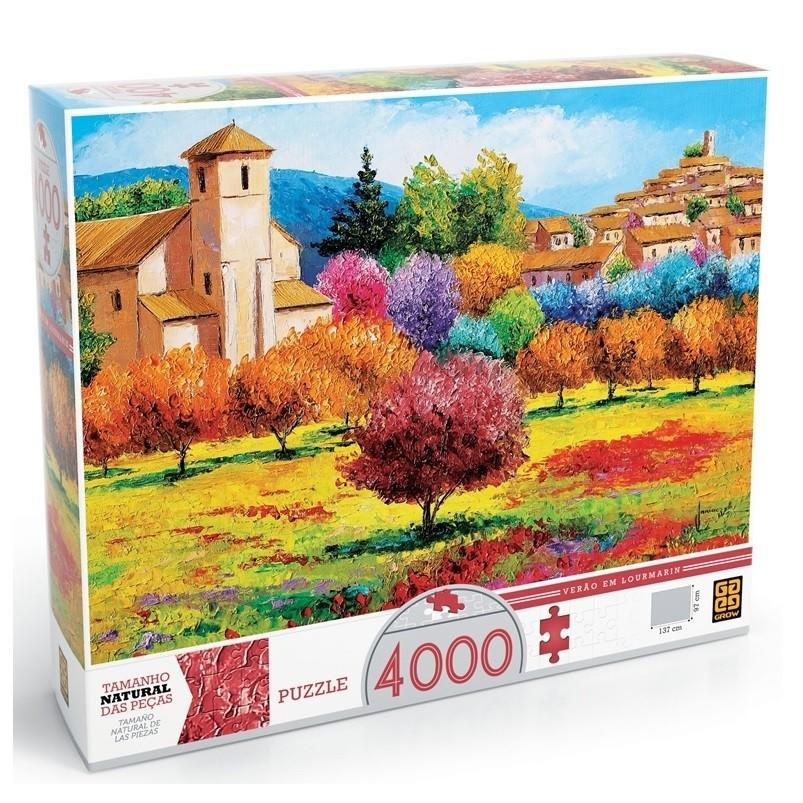 Puzzle 4000 peças - Verão em Lourmarin - Grow