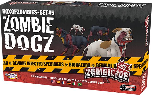 Zombie Dogz - Expansão Zombicide jogo de Tabuleiro Galápagos