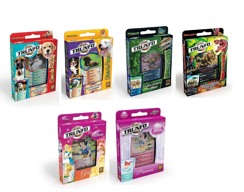 Combo Super Trunfos - Kit com 6 itens - Grow