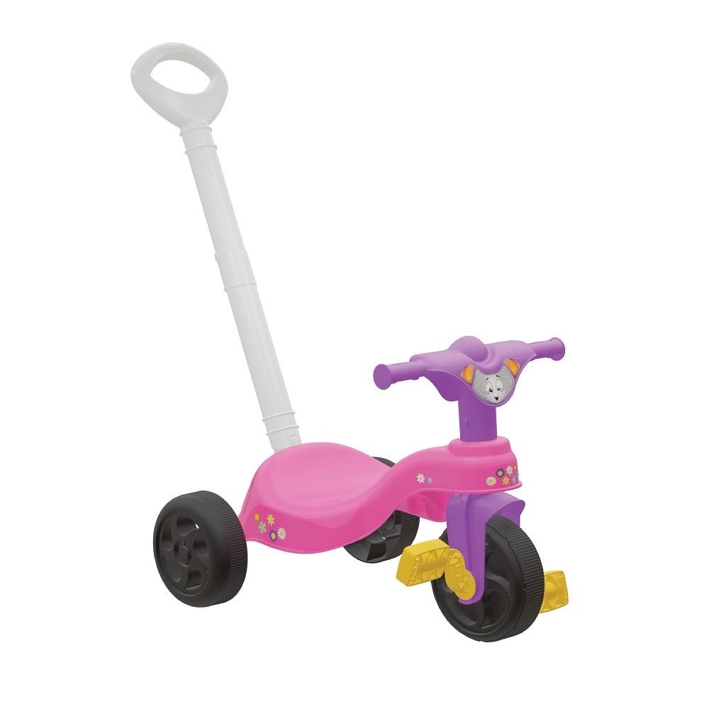 Triciclo Infantil Encantado com Empurrador- Pais e Filhos