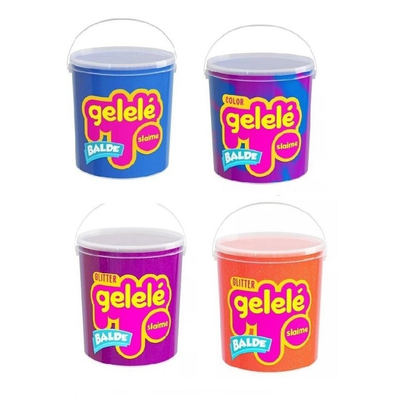 Kit Massinha Gelelé Slime c/ 4 Potes 457 g - Sortidos - Doce Brinquedos