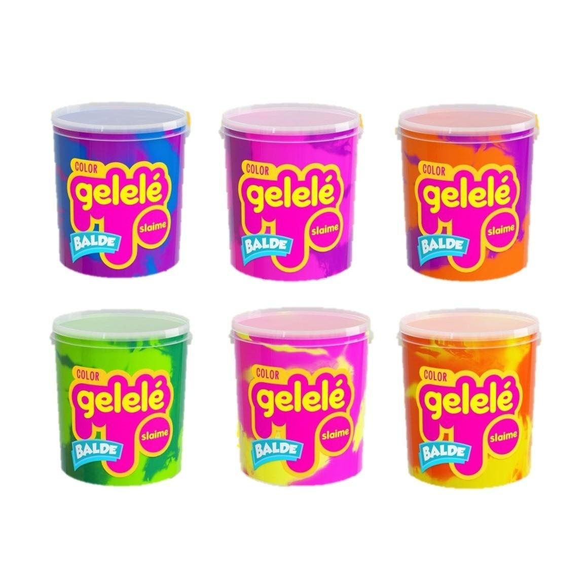 Kit Massinha Gelelé Slime c/ 12 Potes 457 g - Sortidos - Doce Brinquedos