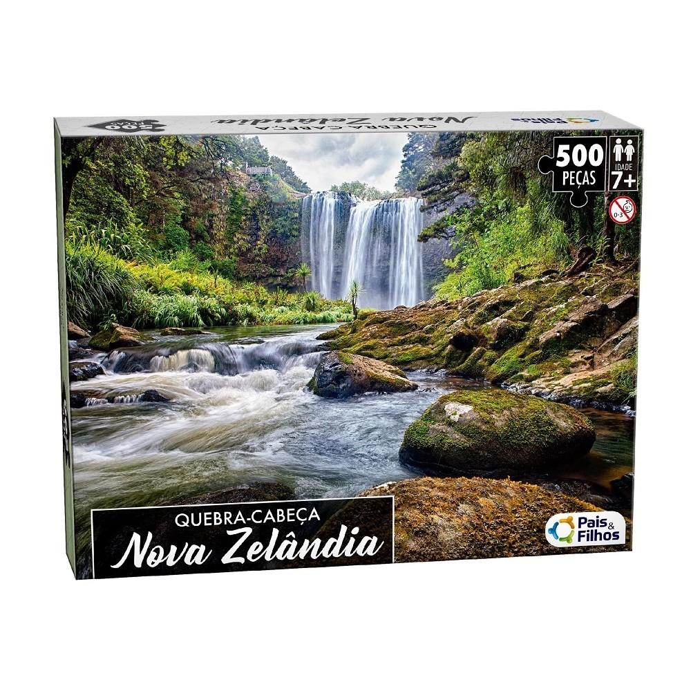 Quebra-Cabeça 500 peças Nova Zelândia - Pais e Filhos
