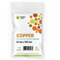 Sleeve Copper Blue Core 65 x 100mm (100 Unidades) - Meeple Vírus