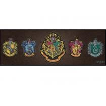Poster Harry Potter Crests 95x34cm Com Moldura - Wall Street Posters