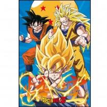 Poster Dragon Ball Z 3 Gokus 55x44cm com Moldura - Wall Street Posters