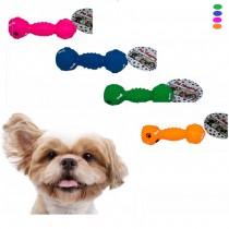 Brinquedo Mordedor Halteres Patinhas para Cães 16 cm - Pet Shopping